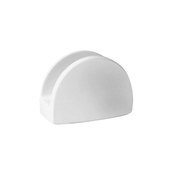 Serwetnica porcelanowa biała